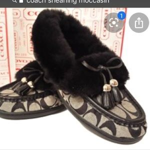 Authentic Coach Fiona moccasin slippers&caoch bag